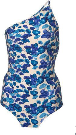 One-Shoulder Floral Swimsuit