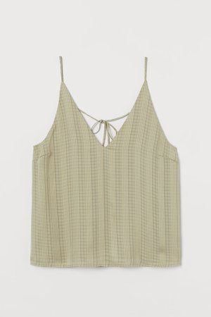 V-neck Camisole Top - Green