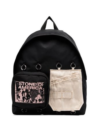 Raf Simons X Eastpak Panelled Backpack EK36FB89 Black   Farfetch