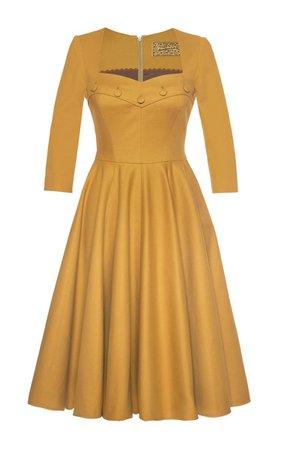 Mustard Sweetheart Dress by Lena Hoschek | Moda Operandi