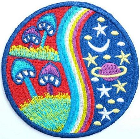 Rainbow Magic Mushroom Stars Embroidered Iron On Badge Patch | Etsy