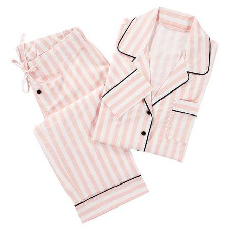 The Emily & Meritt Pink Stripe Pajamas | PBteen