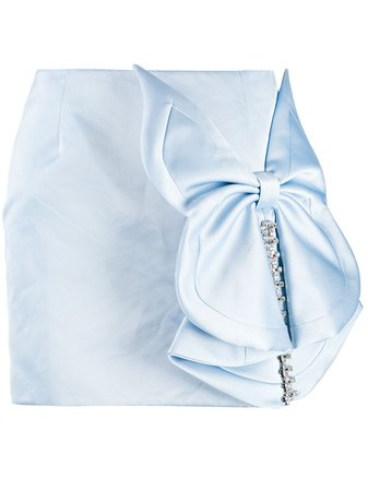 AREA butterfly bow skirt