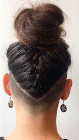 undercut braided bun