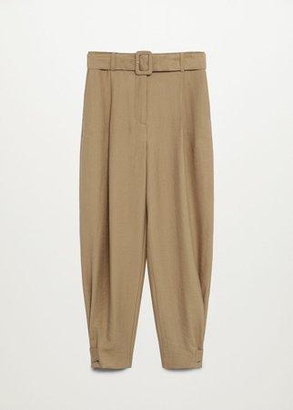 Darts lyocell trousers - Women | Mango USA