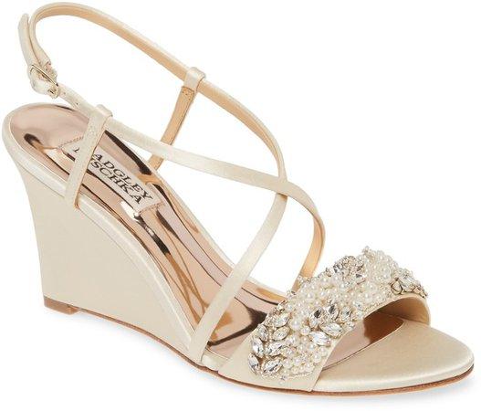 Clarisa Embellished Wedge Sandal