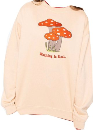 nothing is real mushroom sweater, mingalondon