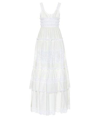 Cotton poplin maxi dress
