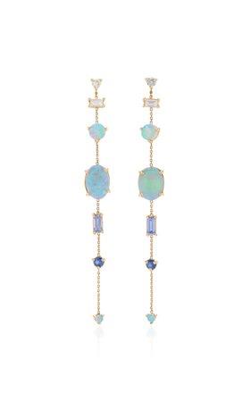 WWAKE Gold And Multi-Stone Earrings