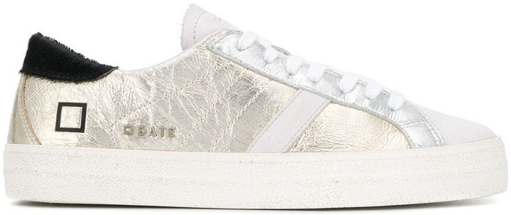 Hill metallic low-top sneakers