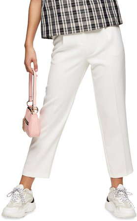 Straight Leg Crop Trousers