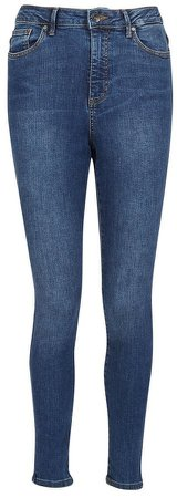Dark Blue Denim High Rise Skinny Fit Jeans