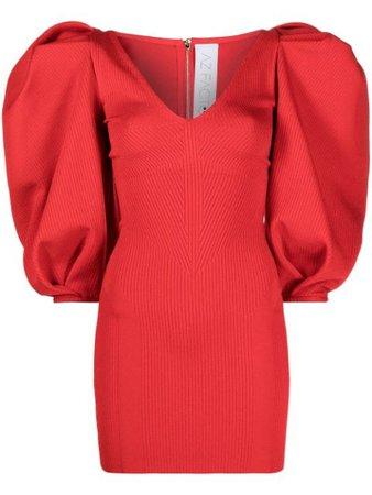 AZ FACTORY MyBody puff-sleeve dress red DRS024 - Farfetch