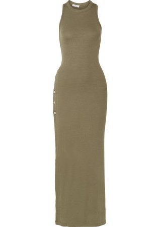 Alix | Beekman ribbed stretch-modal jersey maxi dress | NET-A-PORTER.COM