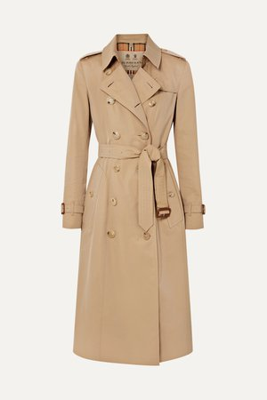 Beige The Chelsea Long cotton-gabardine trench coat | Burberry | NET-A-PORTER