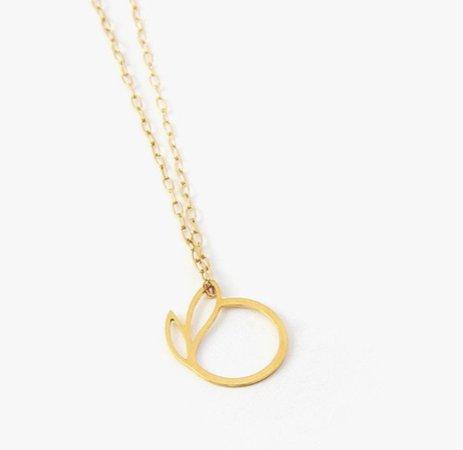 peach charm necklace