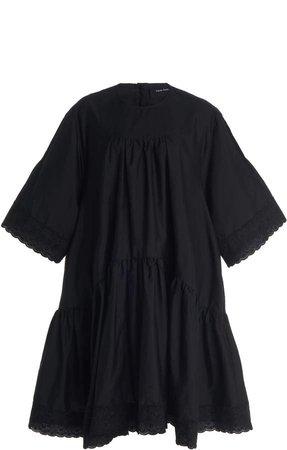 Simone Rocha Tiered Ruffled Cotton Dress