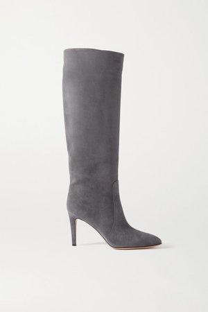 85 Suede Knee Boots - Dark gray