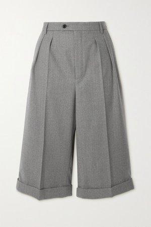 Wool-twill Shorts - Gray