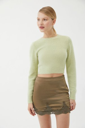 UO Under The Moon Satin Mini Skirt | Urban Outfitters