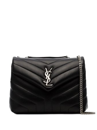 Black Saint Laurent Black Loulou Small Quilted Leather Crossbody Bag | Farfetch.com