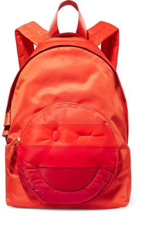 Chubby Striped Shell Backpack - Red
