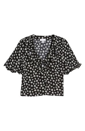 Topshop Maisie Floral Frill Blouse   Nordstrom