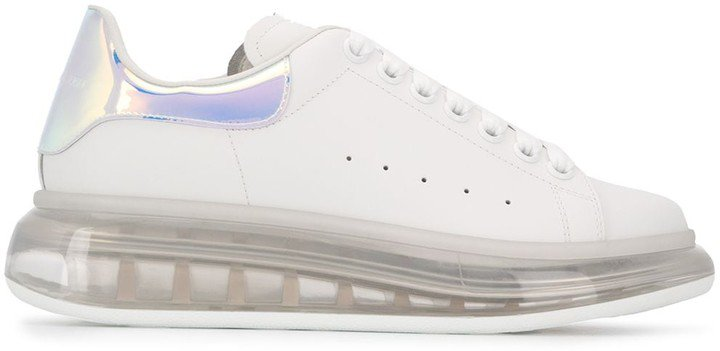 Oversized clear sole sneakers