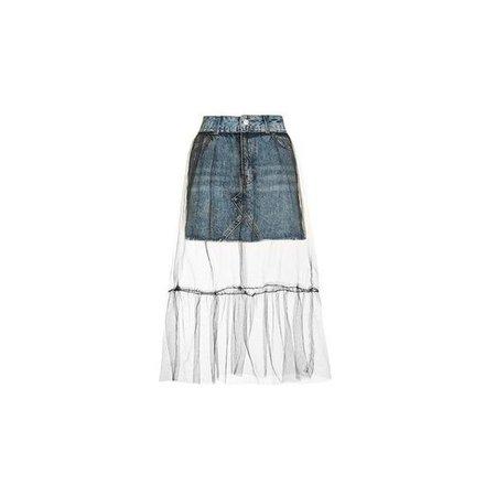 Topshop Petite Tulle Mesh Skirt