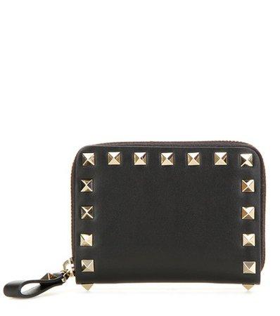 Valentino Garavani Rockstud leather coin purse