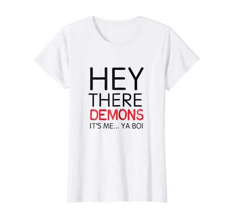 : BuzzFeed Unsolved Hey There Demons... Ya Boi T-Shirt: Clothing