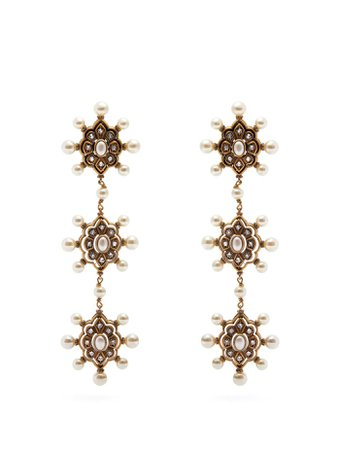 Pearl drop earrings | Gucci | MATCHESFASHION.COM UK