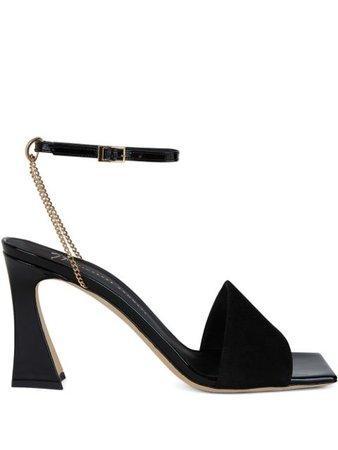 Giuseppe Zanotti sculpted-heel sandals black E100077001 - Farfetch