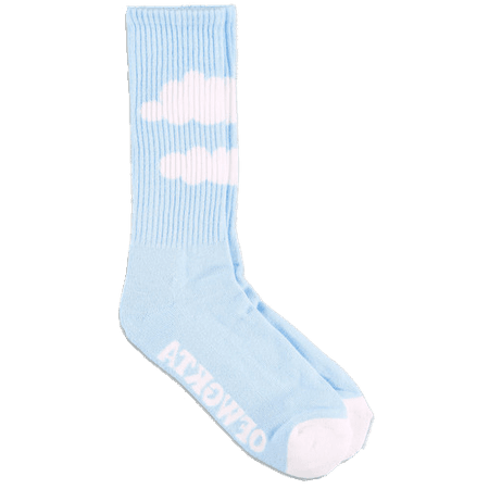 blue cloud socks