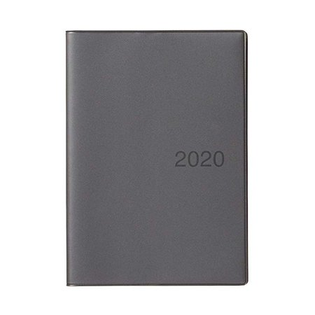 Amazon.com : MUJI 2020 Fine Paper Schedule Note B6 Size (4.9 x 6.9 in) Monthly/Weekly Notebook Dark Gray Beginning December 2019 : Office Products