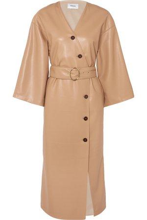 Nanushka | Iben belted vegan leather dress | NET-A-PORTER.COM