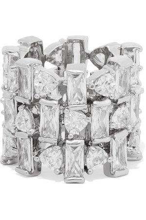 Kenneth Jay Lane | Silver-tone cubic zirconia ring | NET-A-PORTER.COM