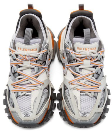 Balenciaga Orange and grey trackers