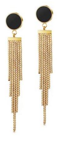 Black & Gold Dangle Earring