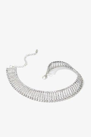 Rhinestone Choker Necklace   Forever 21
