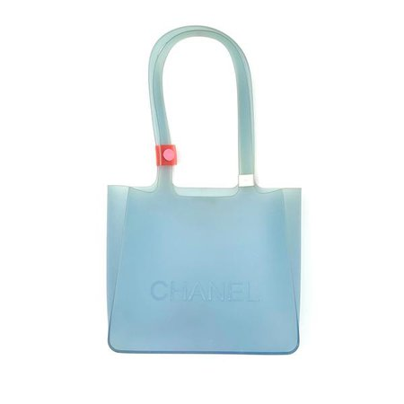 Chanel Baby Blue Jelly Logo Tote – Treasures of NYC