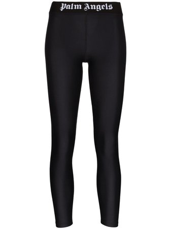 Palm Angels Logo Waistband Sports Leggings - Farfetch