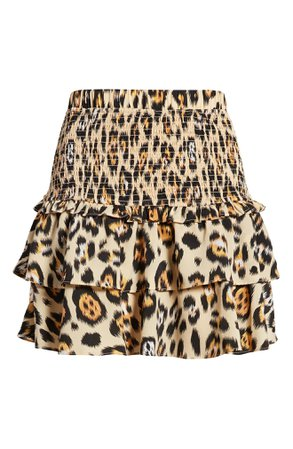English Factory Animal Print Smocked Skirt | Nordstrom