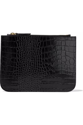 Croc-effect leather pouch | IRIS & INK | Sale up to 70% off | THE OUTNET