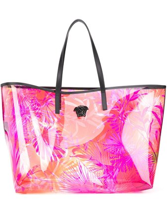 Versace Jungle Print Transparent Tote Bag Aw20 | Farfetch.Com