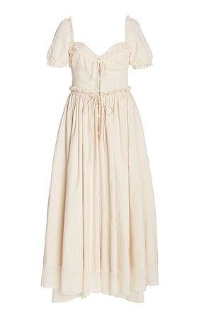 Garden Party Ruffled Cotton-Blend Maxi Dress by Rosie Assoulin | Moda Operandi