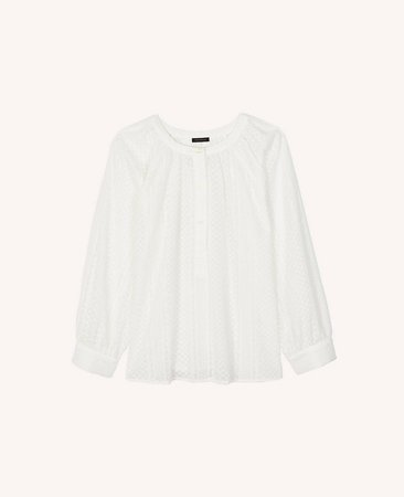 Embroidered Button Blouse | Ann Taylor