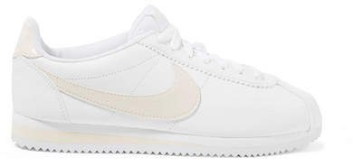 Classic Cortez Paneled Leather Sneakers - White