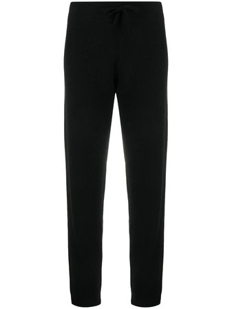 Cashmere In Love ribbed-knit track pants black SIMI - Farfetch