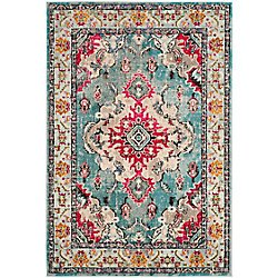 Safavieh Monaco Moses Grey / Light Blue 8 ft. x 10 ft. Indoor Area Rug | The Home Depot Canada